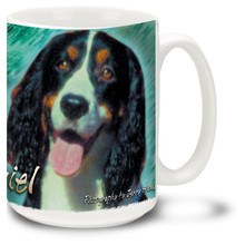 Artsy English Springer Spaniel - 15oz Dog Mug