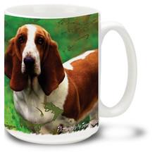 Artsy Basset Hound - 15oz Dog Mug