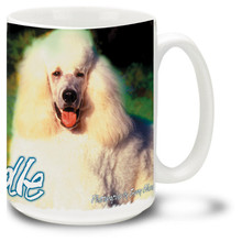 Artsy Standard Poodle - 15oz Dog Mug