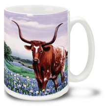 Texas Pride Longhorn - 15oz Mug