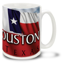 Houston with Texas Flag - 15oz Mug