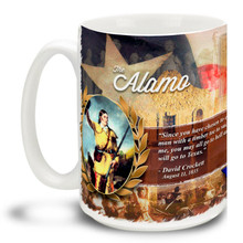 Texas Alamo Photo History Davy Crockett - 15oz Mug