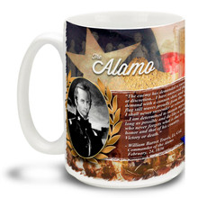 Texas Alamo Photo History William Travis - 15oz Mug