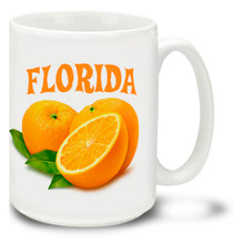 A day without Florida orange juice is like a day without sunshine, but a day without coffee in your Florida Mug is like, well, night! This colorful Florida mug is sure to be a favorite!