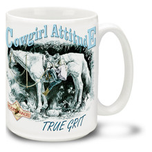 It's the simple things that matter, a great horse and long ride! Get out on the range with this Cowgirl Attitude coffee Mug. Cowgirl Attitude Mug is durable, dishwasher and microwave safe.