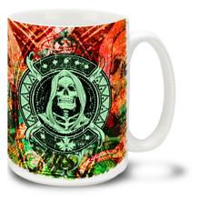 Grim Reaper Skull - 15oz Mug