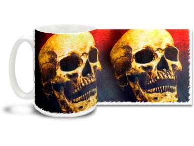 Make a definite impression the the next staff meeting with this Halloween Horror Skull Mug! Great for morning coffee after those long walks through the graveyard, Halloween Horror Skull mug is dishwasher and microwave safe and is sure to be a favorite!