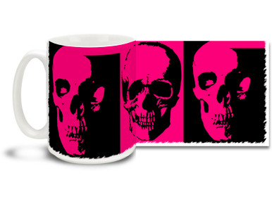 Some things are just prettier in pink, like this Pink Emo Skull Mug! Cut through the sugar and spice with this Pink Emo Skull coffee mug - dishwasher and microwave safe and sure to be a favorite!