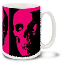 Pink Emo Skull - 15oz Mug