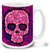 Pink Flower Skull - 15oz Mug
