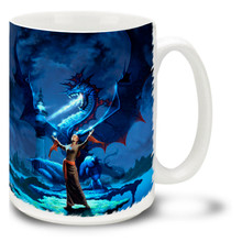 Blue Lightning Dragon - 15oz Mug