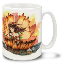 Fairy Downstream on a Leaf - 15oz Mug