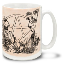 White Magic Pentagram - 15oz Mug