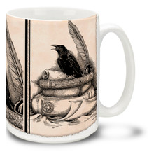 Books and Raven - 15oz Mug