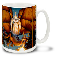 Booked Flight Wizard and Dragon - 15oz Mug