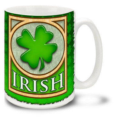 Get into the St. Patrick's day spirit with this lovely green Irish Mug. Vivid green Irish coffee mug is dishwasher and microwave safe and sure to be a favorite.