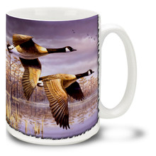 Geese In Flight - 15oz Mug