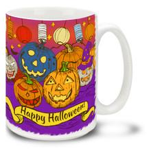 Halloween Sketchy Pumpkins - 15oz Mug
