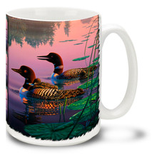 Northern Splendor Loons - 15oz Mug