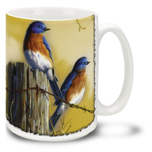 Happiness Bluebirds - 15oz Mug