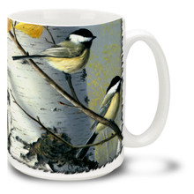 Chickadee and Birch - 15oz Mug