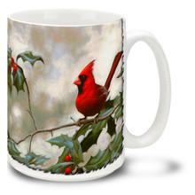Cardinal and Holly - 15oz Mug