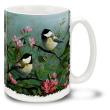 Chickadee and Blossom - 15oz Mug