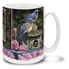 Garden Bluebirds - 15oz Mug