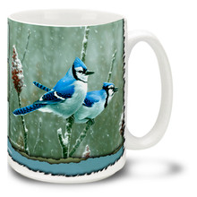 Blue Jay and Sumac - 15oz Mug