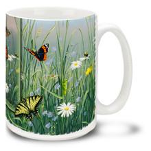 Butterflies in Spring Field - 15oz Mug