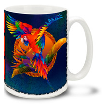 Scarlet Flight Macaws - 15oz Mug