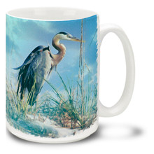 Tropical Great Blue Heron - 15oz Mug