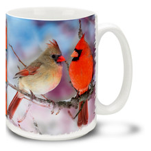 Winter's Cardinal Couple - 15oz Mug
