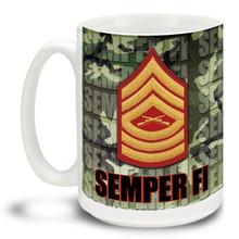 U.S. Marine Corps Enlisted Ranks - 15 oz. Mug