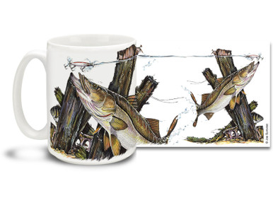 Get the most of out a salt water lifestyle with this fishing themed Snook mug! Featuring a prize catch just about to strike, 15 oz Snook fishing coffee mug is dishwasher and microwave safe. By world renowned salt and freshwater fishing artist Joe Suroviec.