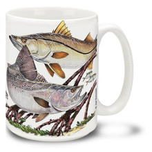 Saltwater Fishing Favorites Snook and Trout - 15oz Mug