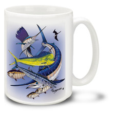 Saltwater Fishing Favorites Offshore Slam - 15oz Mug