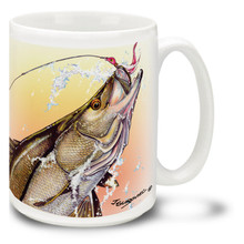 Saltwater Fishing Favorites Snook, Line and Sinker - 15oz Mug