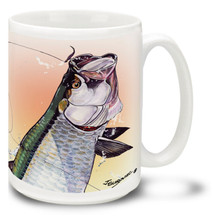 Saltwater Fishing Favorites Sunset Tarpon - 15oz Mug