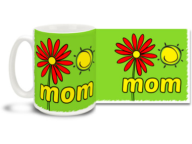 There's a reason Mother's Day happens when spring is in full bloom - moms make it all happen and this Easy Spring Day Mom mug with Green background is a perfect way to show your appreciation! Great gift for Mother's Day or anytime you want to let your mom know she's special. Vivid spring colors and happy daisy on this 15 oz Easy Spring Day Mom mug will make this dishwasher and microwave safe coffee cup a morning favorite!