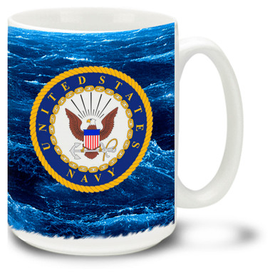 United States Navy Crest on 15oz. Mug
