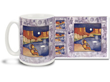 The moon has held power over us since ancient times and you can enjoy the magic of a desert moon with Kokopelli on this Native American themed coffee mug. Deep colors and festive design on this Mystic Moon Kokopelli Coffee Mug is sure to make this dishwasher and microwave safe cup a favorite!