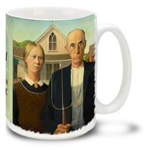 American Gothic - Grant Wood - 15 oz Coffee Mug