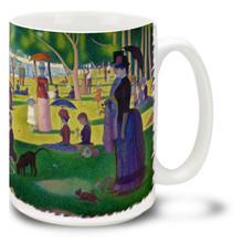 Sunday Afternoon on the Island of La Grande Jatte - Georges-Pierre Seurat - 15 oz Coffee Mug