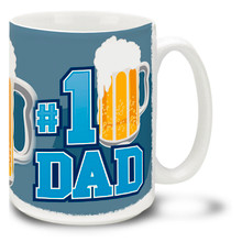 #1 Dad with Beer - 15oz Mug