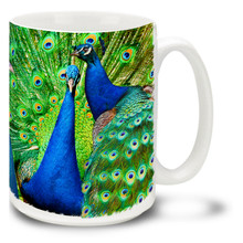 Blue Indian Peacock - 15oz Mug