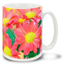 Colorful Chrysanthemums - 15 oz Mug