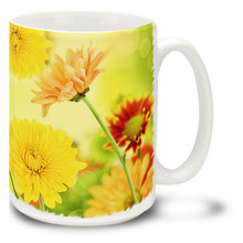 Colorful Mums - 15 oz Mug