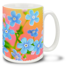 Forget-Me-Not Flowers - 15 oz Mug