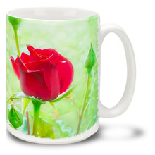 Red Rose Bud - 15 oz Mug